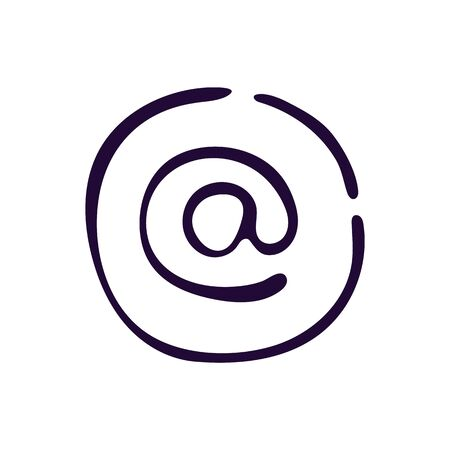 Email icon. Vector illustration on white background