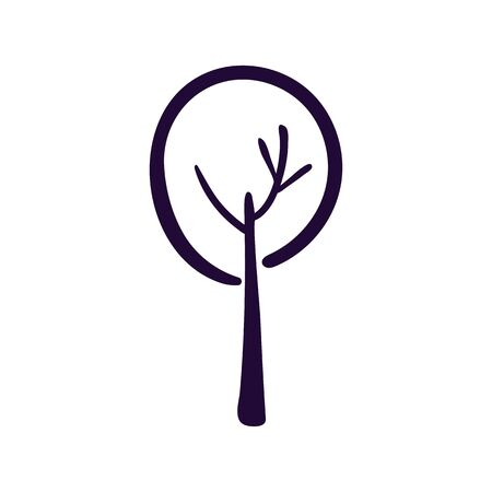 Tree icon vector illustration on white backgound