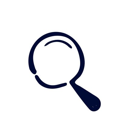Search icon on white background Vector illustration 写真素材