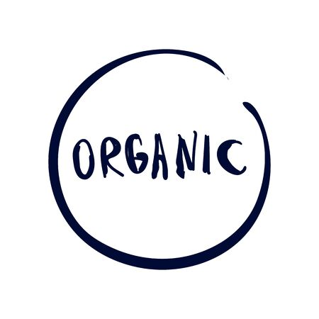 Icon logo organic on white backgound Vector illustration 写真素材