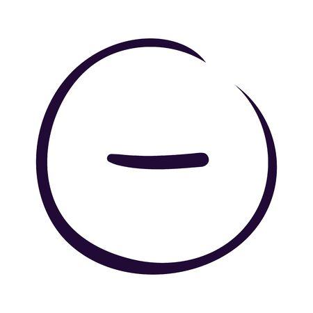 Minus sign icon on white backgound Vector illustration Eps10