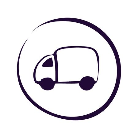 Delivery Truck icon on white background. Vector illustration.Eps10