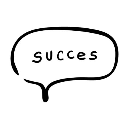 Success in word cloud dialog bubble on white background Vector illustration. Eps10
