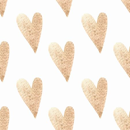 Seamless pattern with hearts. Hand draw 写真素材