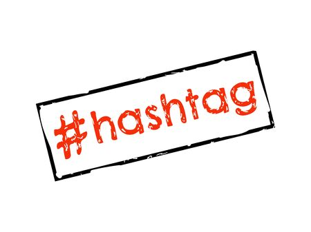Hashtag sign Vector illustration on white bacground