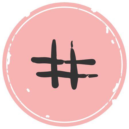 Hashtag sign icon vector illustration on white background