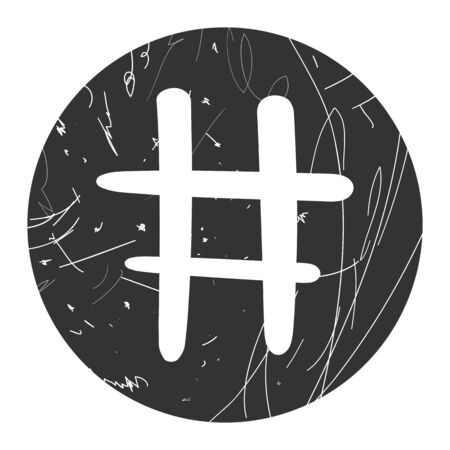 Hashtag sign icon vector illustration on gray background
