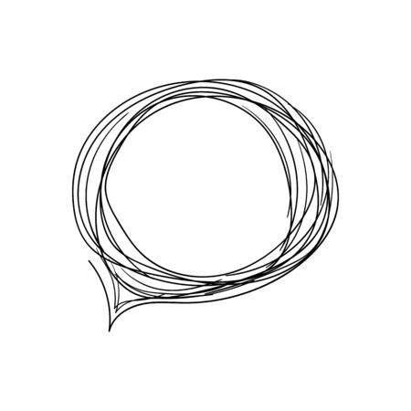 WebChat outline icon. Dialog text on white background