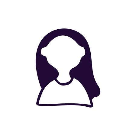 Woman icon vector illustration on white background