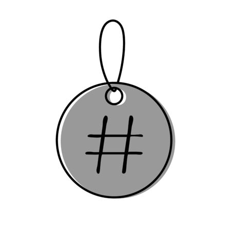 Lable icon with sign hashtag vector illustration on white background Eps10