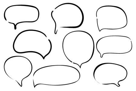 Chat message set icon. Vector illustration. Illustration