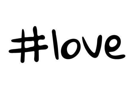 Hashtag love vector icon on white background