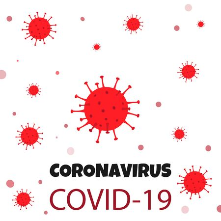 Coronaviruses background. Coronavirus COVID-19 outbreak. Epidemiology concept.