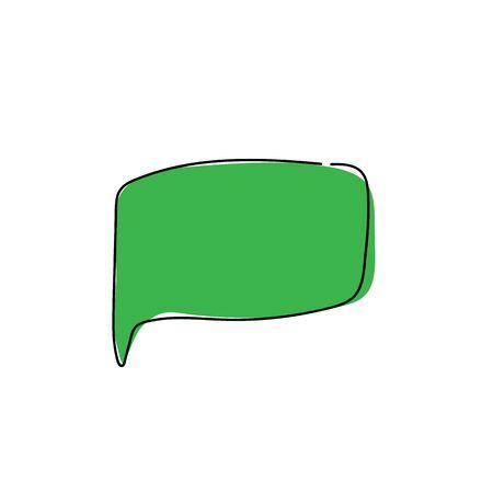 WebChat icon. Dialog text on white background Banco de Imagens