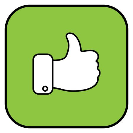 Like icon. Hand like. Thumb up Vector illustration Ilustração