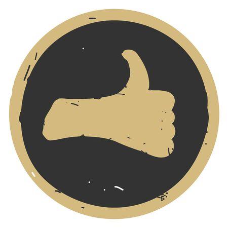 Like icon. Hand like. Thumb up Vector illustration Иллюстрация