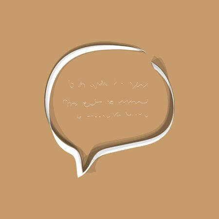 WebChat icon. Dialog text on beige background