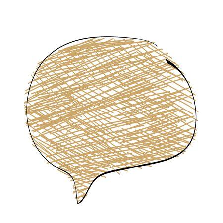 WebChat icon. Dialog text on white background Ilustração