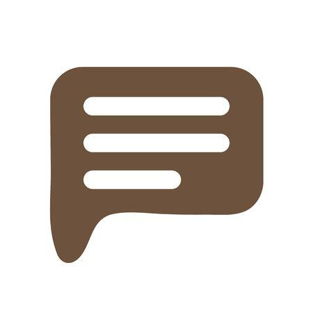 Chat icon. Dialog text on white background Vector illustration Ilustração