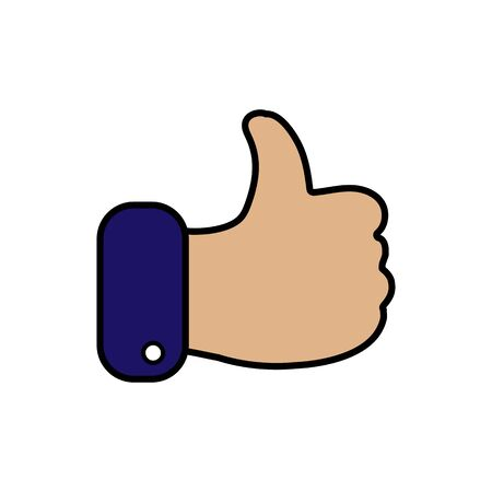 Like icon. Hand like. Thumb up Vector illustration Иллюстрация