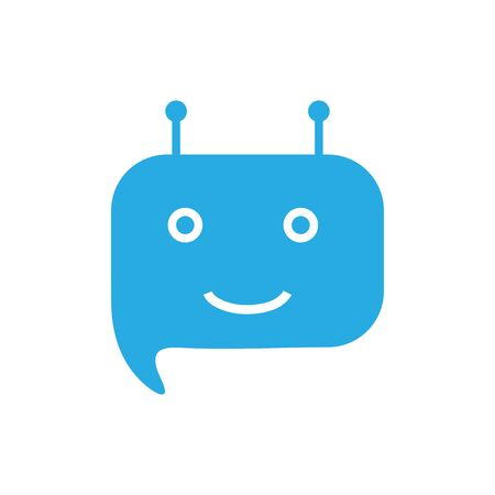 Chatbot icon on white background Vector illustration