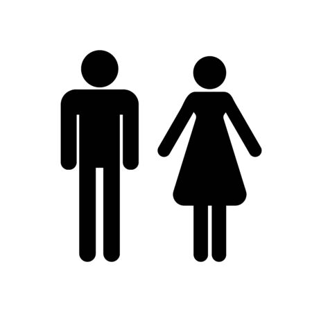 Man and woman icon profile picture. Vector illustration