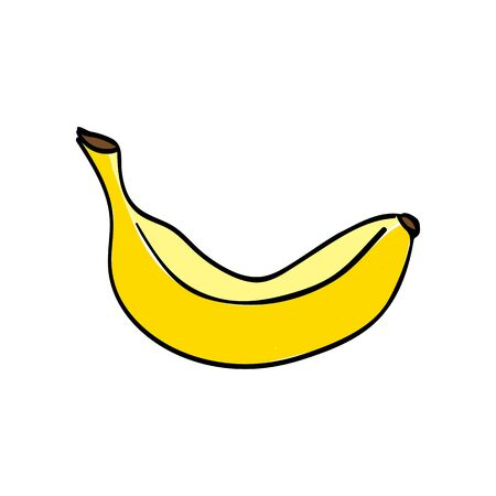 Banana icon on white background. Vector illustration 向量圖像