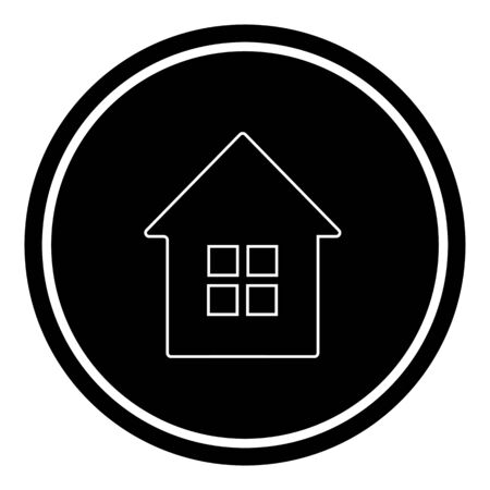 houses icon. vector illustration on black background