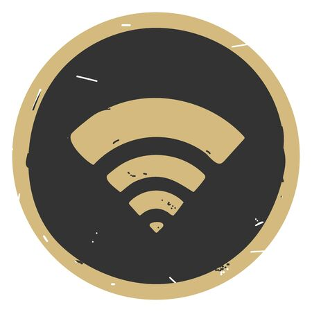 Wi Fi icon vector illustration on dark background 向量圖像