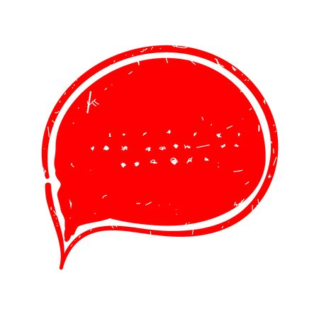 Red chat icon vector illustration dialog text on white background 向量圖像