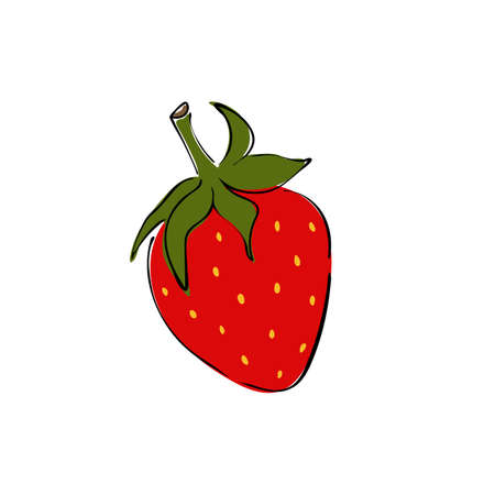 Strawberry icon vector illustration on white background