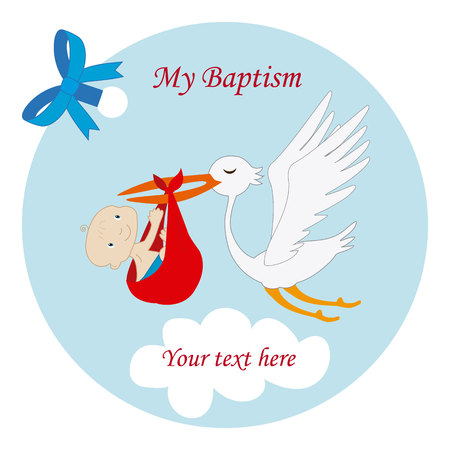 Baptism-Child Reminder 向量圖像