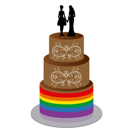 Wedding Cake with Two Woman