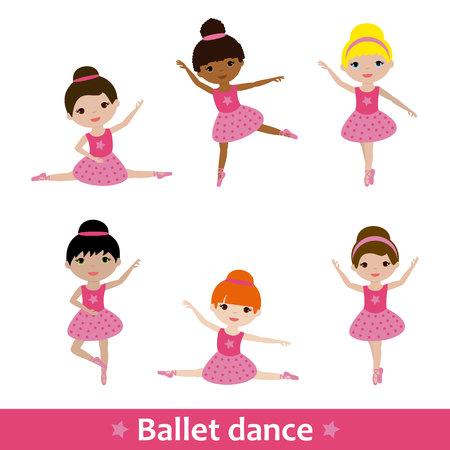 Girls doing ballet Illustration