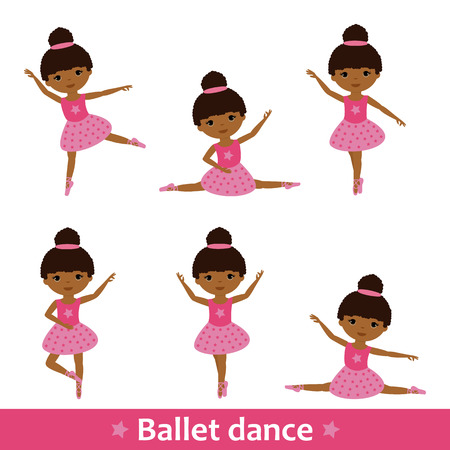 Set African dancers Illustration