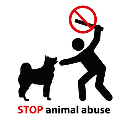 Stop animal abuse Ilustrace