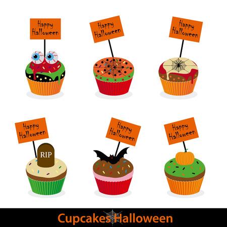 Halloween cupcakes icon.