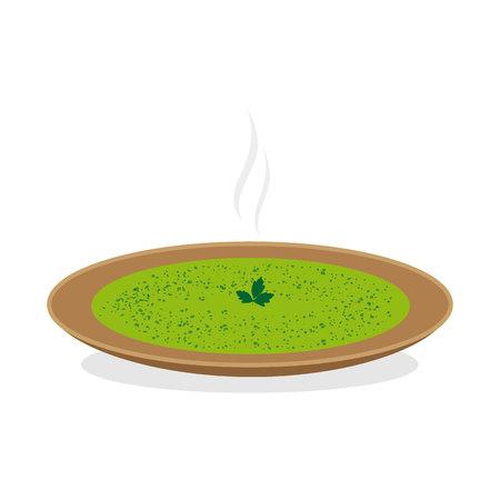 Cream of zucchini Ilustracja