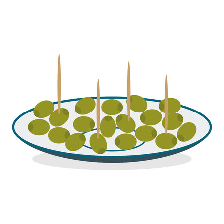 Stuffed olives illustration.