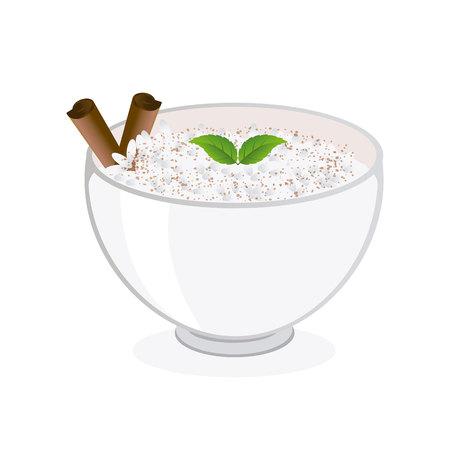 Rice pudding illustration.