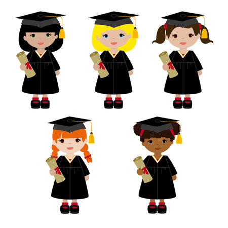 Girls in their graduation