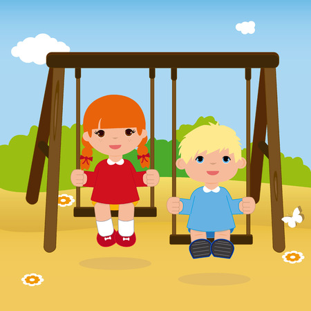 Children swaying illustration