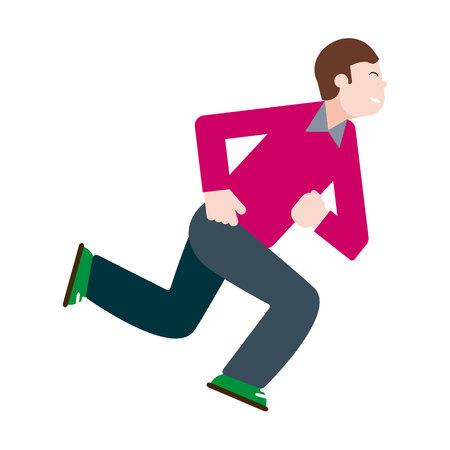 Man running in vector illustration 免版税图像 - 116910792