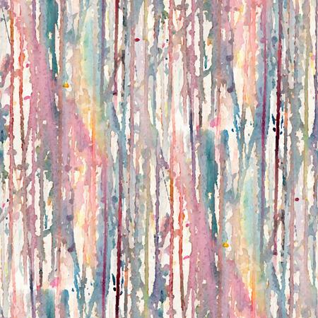 水彩スポットと抽象的なシームレス パターン。ベクトル図  イラスト・ベクター素材
