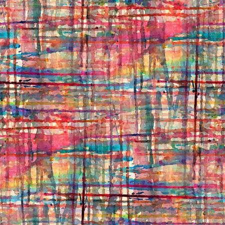 Abstract naadloos patroon met waterverf vlekken. Vector illustratie Stock Illustratie