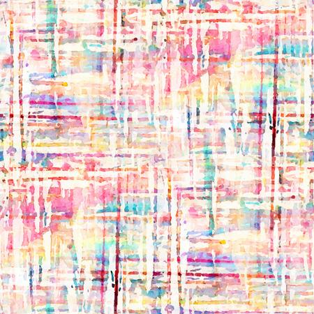 수채화 관광 명소와 추상 원활한 패턴입니다. 벡터 일러스트 레이 션