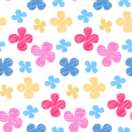 simple flower: Seamless pattern - simple flower background. Vector illustration. Illustration