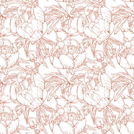 Elegant floral wallpaper - naadloos patroon