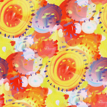 acryle: Abstract seamless pattern with acrylic painting in doodle style.
