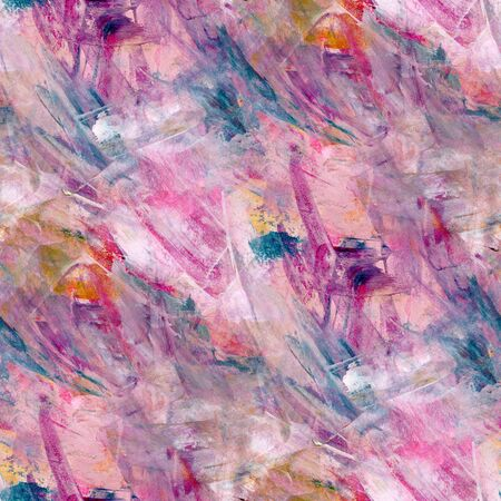 picturesque: Abstract seamless pattern with acrylic painting. Endless picturesque background.
